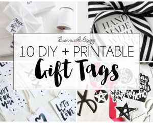 10 DIY + Printable Gift Tags