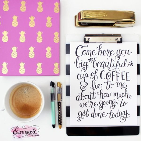 10 Motivational Printables for your Workspace | www.dawnnicoledesigns.com