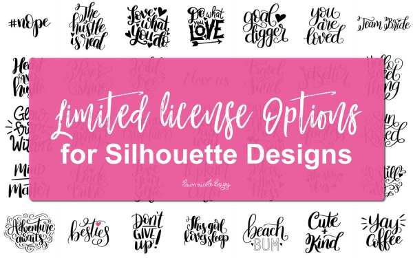 Silhouette Design License Options for Dawn Nicole Designs