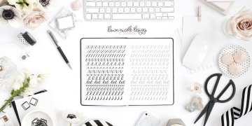 Basic Strokes Worksheets for Small Brush Pens