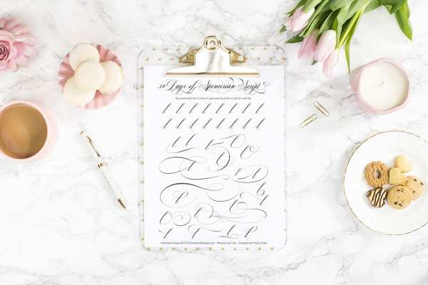 Spencerian Script Style: Letter K Worksheets. This post is part of the 30 Days of Spencerian Script Style Worksheets series. I'm posting a new free Spencerian Style Practice Worksheet every day for thirty days!