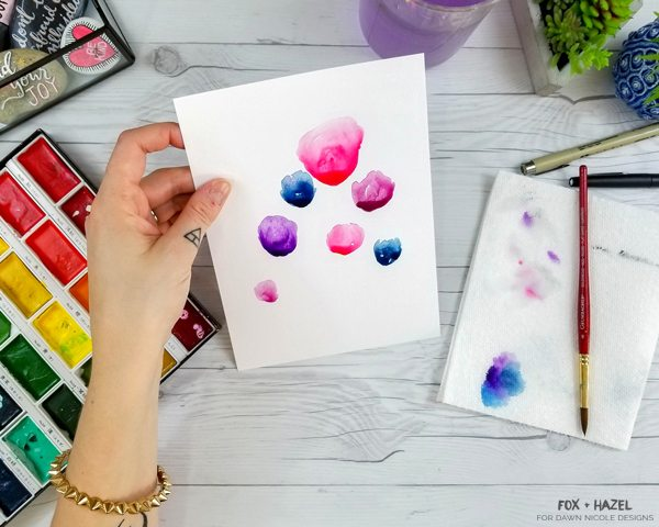 How to Paint Easy Watercolor Flowers Tutorial - Fox + Hazel for Dawn Nicole Designs 9