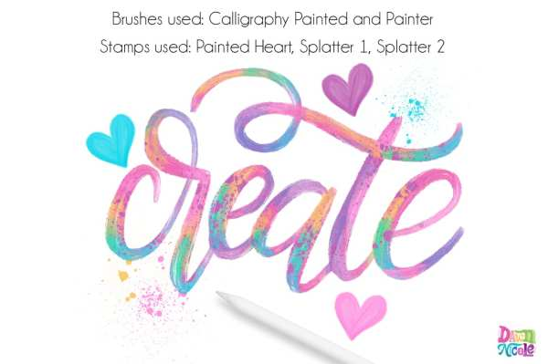 Procreate Tutorial: Artsy Painted Calligraphy | Dawn Nicole