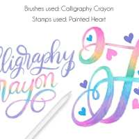 Procreate Tutorial: Rainbow Calligraphy Crayon