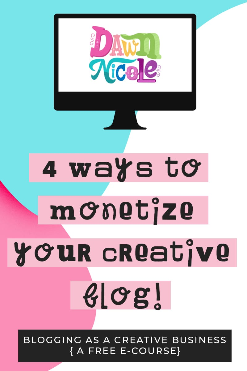 """Four Ways to Monetize Your Creative Blog. In this lesson, I'll talk to you about the """"$300 Money Mindset"""" that changed everything + exact revenue streams that add up to a six-figure income."""