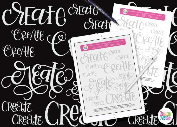 Mixed Lettering Practice Sheets: Create