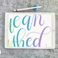 Colorful Blended Calligraphy