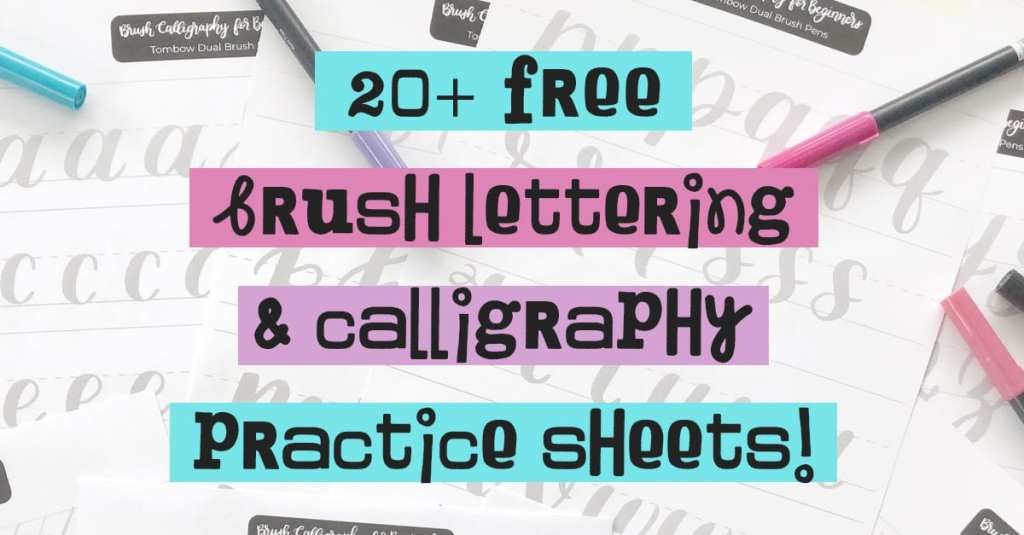 20+ Free Brush Lettering Practice Worksheets. Get your lettering + calligraphy practice on with over twenty fun (and free!) practice worksheets.