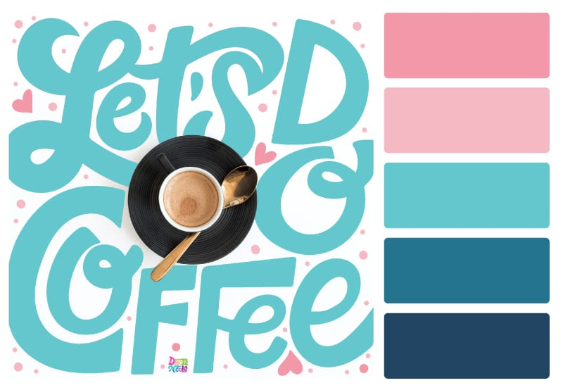 Pink Sky Color Palette + Lettering Inspiration. Grab this free color palette, check out the lettering pieces I created with it, and then use it to make some of your own!
