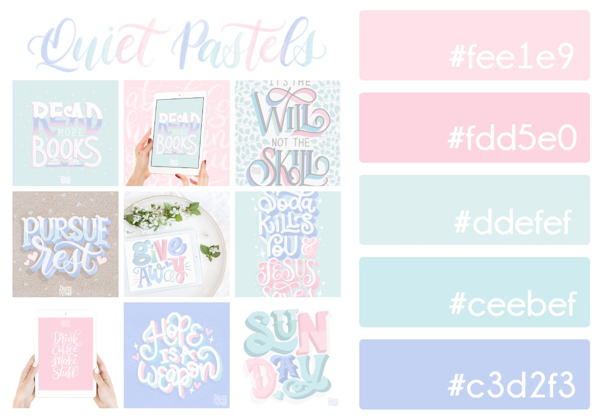 Quiet Pastels Color Palette   Dawn Nicole
