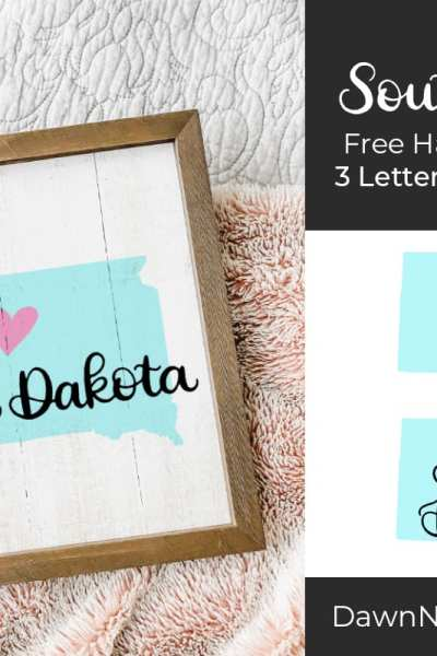 Hand-Lettered South Dakota SVG Cut File. Grab this free hand-lettered and illustrated state art SVG in three lettering style options!