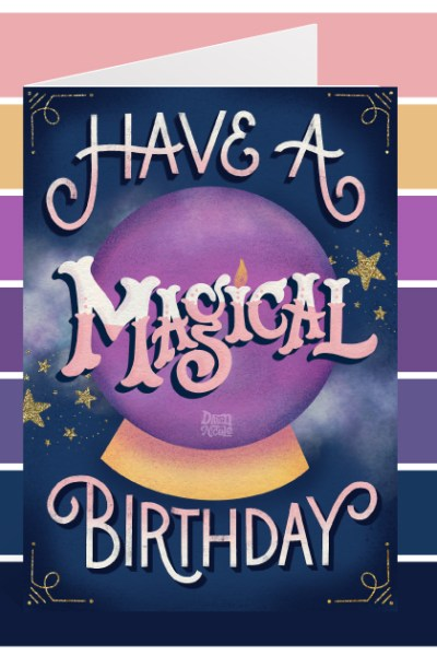"""Magical Wishes Color Palette. Grab the palette I used for my hand-lettered """"Have a Magical Birthday"""" artwork + tips for how to use it!"""