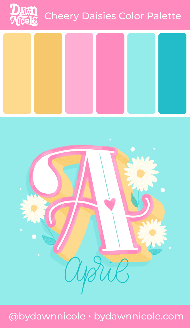Cheery Daisies Color Palette