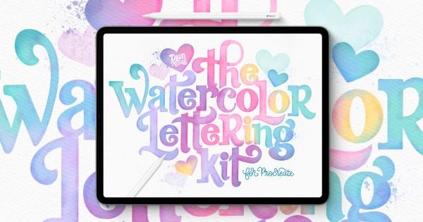 Watercolor Lettering in Procreate. Learn to Create Gorgeous Watercolor Lettering digitally in the Procreate App!