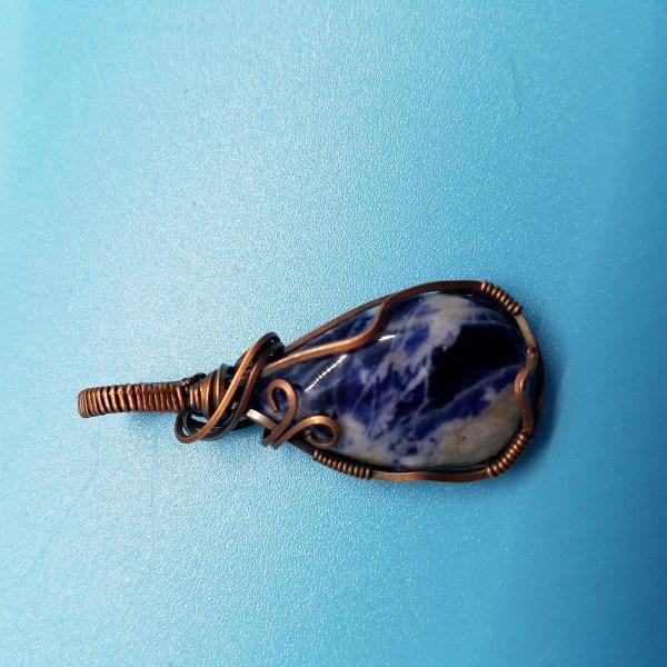 Sodalite Copper Pendant