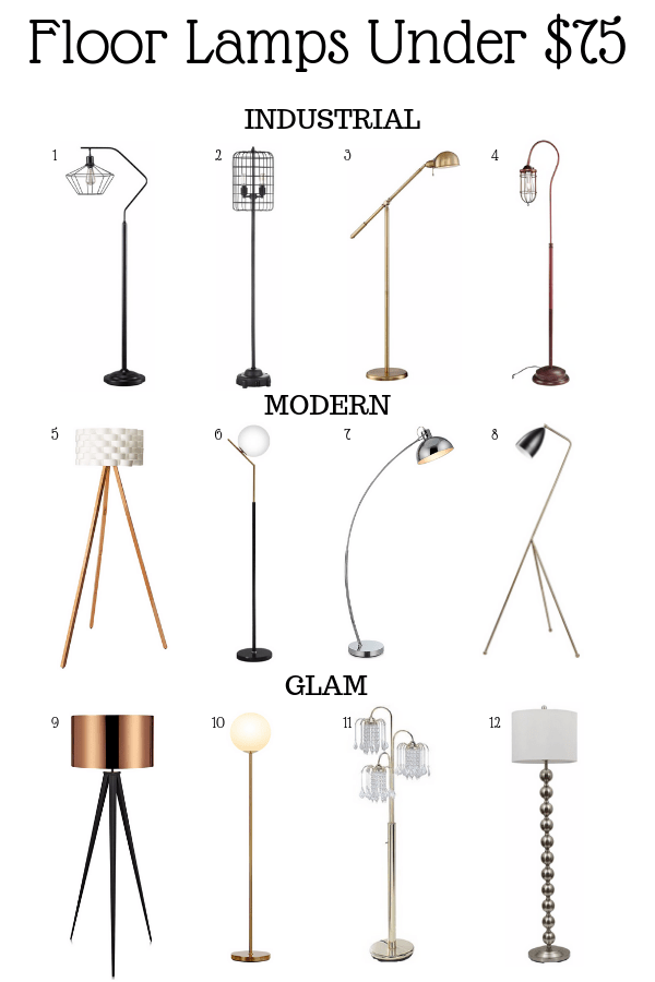 a compilation of cheap floor lamps