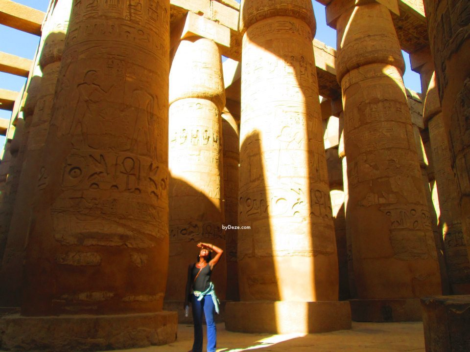 me in Karnak temple during my travel to Egypt as a student