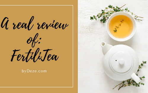 a picture of a tea pot and a cup - a real review of fertilitea