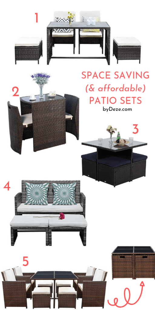 5 Affordable Space Saving Patio Sets For Small Spaces Bydeze