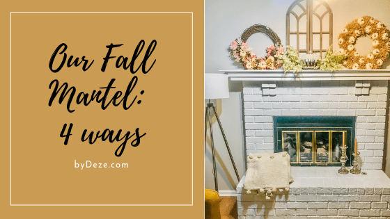 mantel decor for fall header