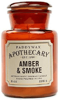 amber and smoke soy candle