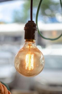a warm hued lightbulb for a cozy home