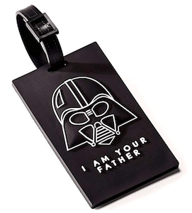 a themed bag tag is a great addition to this list of cheap gifts for guys