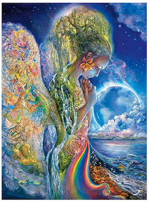 fertility themed jigsaw puzzle depicting a rainbow across a womans belly for the two week wait