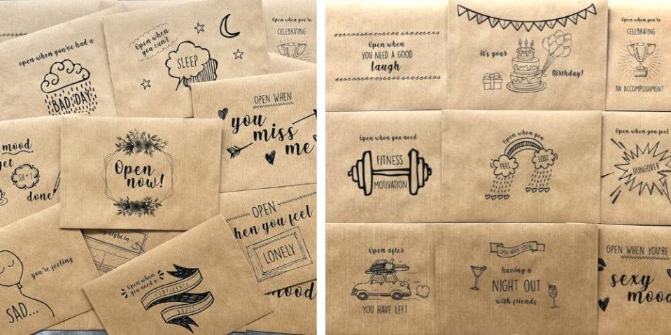 open when letters from etsy