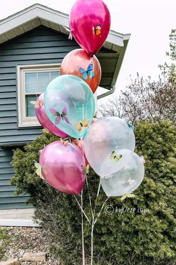 balloons for butterfly theme parties