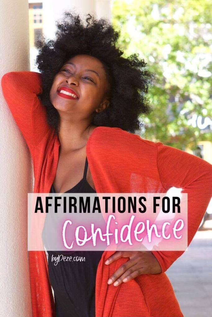 affirmations that build confidence and self esteem - black girl with good smile