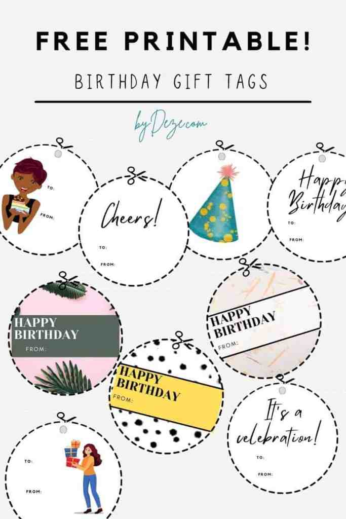 free printable birthday gift tags