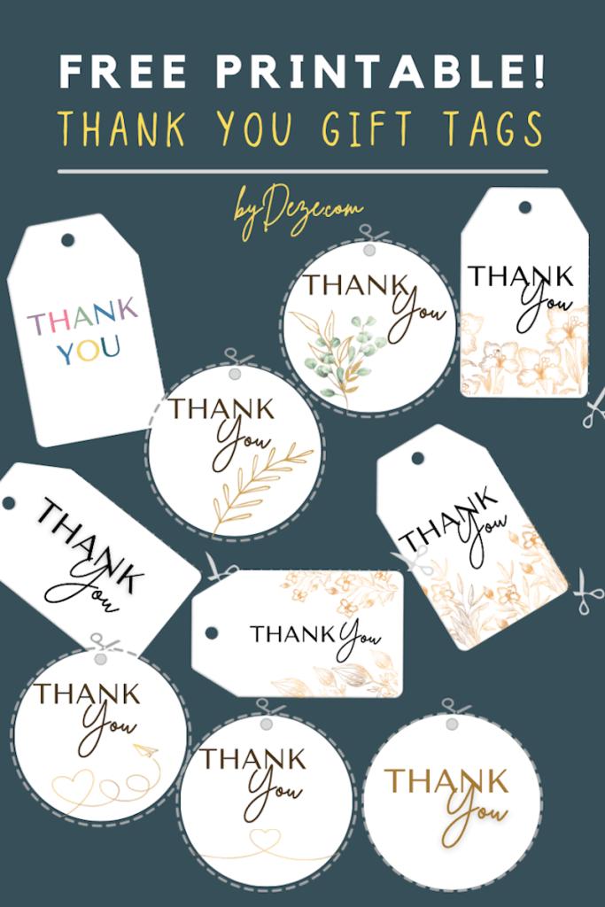 free printable thank you gift tags post