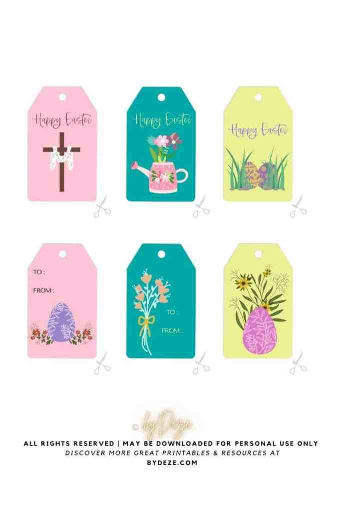 free printable happy Easter gift tags