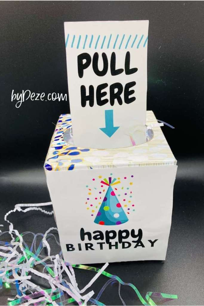 a happy birthday money tissue roll