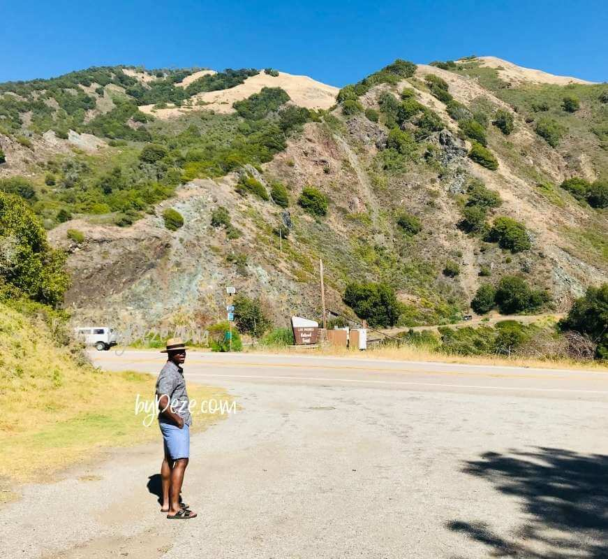 mountains in big sur during cali coast road trip