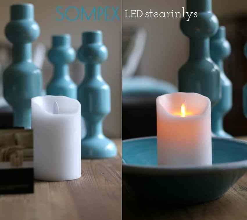 led lys, sompex batteridrevet stearinlys