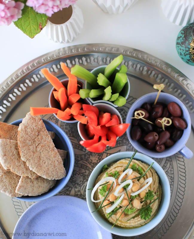 hummus opskrift, humus, tapas, starters, små retter