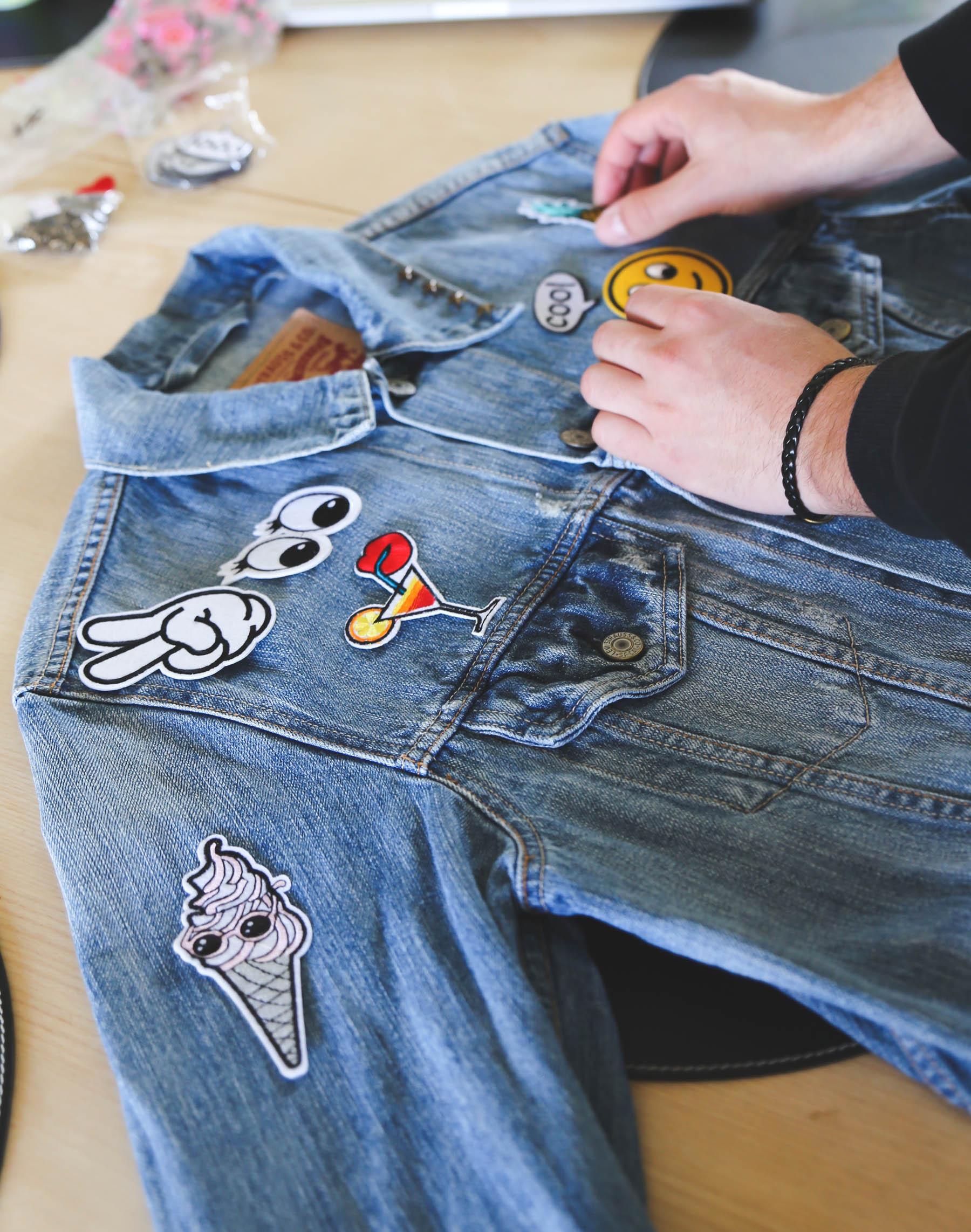 DIY gør det selv denim jacket makeover