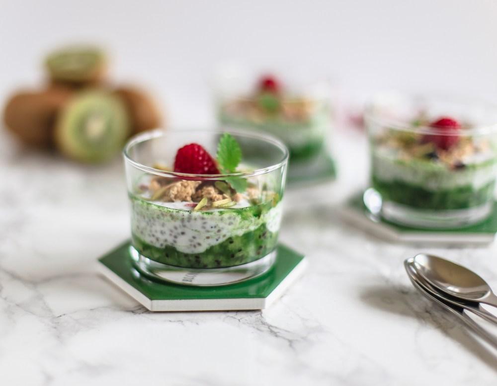 sund dessert, chiagrød med kiwi, sund mellemmåltid