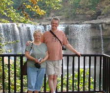 Jan and Bill Sides at Cumberland Falls State ResortPark