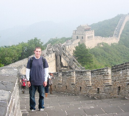 Andrew Hass at the Great Wall ofChina; CLICK TOENLARGE