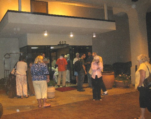 All hotel guests were evacuated after the fire alarm went off