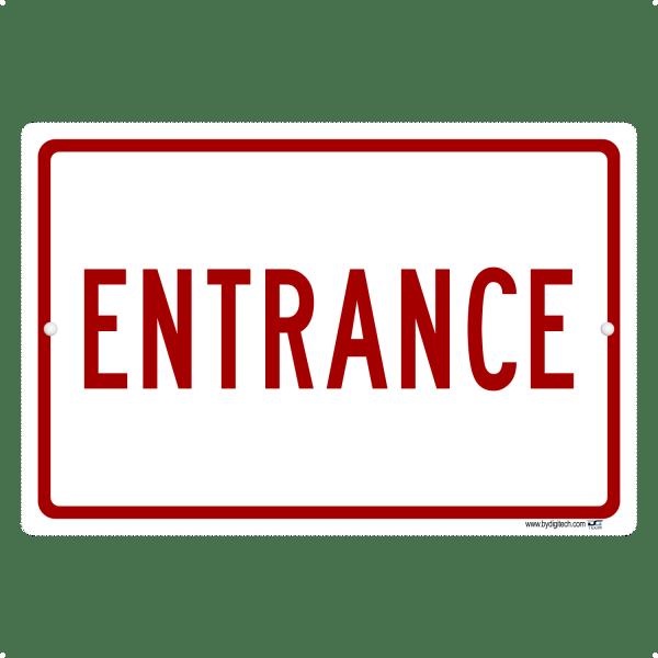 Entrance Sign - aluminum sign