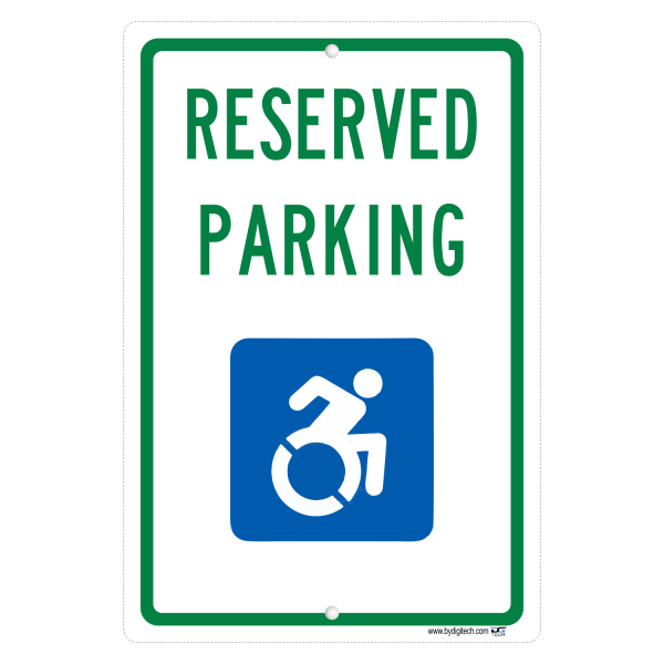 New York State Reserved Handicap Parking - aluminum sign