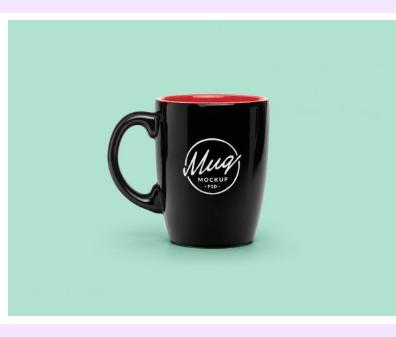 Back to Top Button, A Coffee Mug