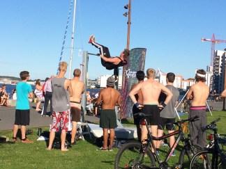 Streetworkout ved Aalborg Havnefront.