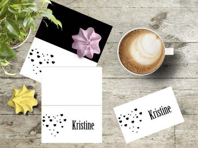 Bordkort og invitasjoner til vårens selskaper