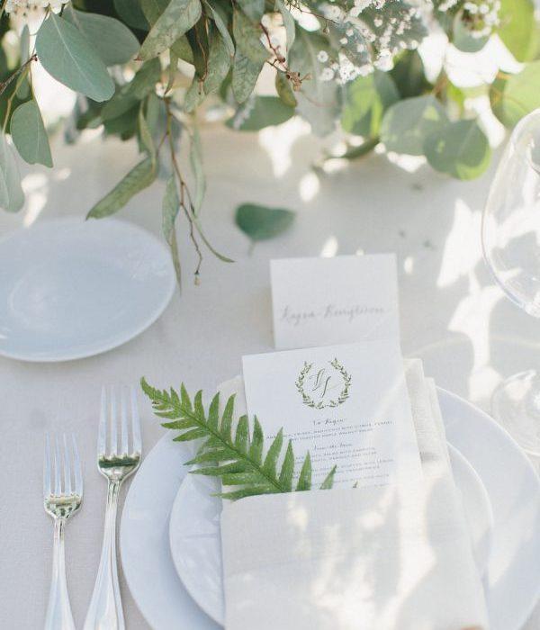 Sommerbryllup – vakre, festpyntede bord