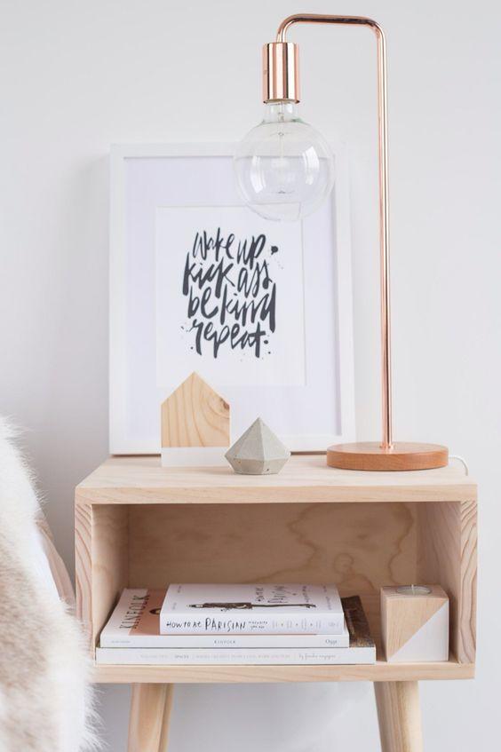 Superenkle nattbord, noen kan du lage selv